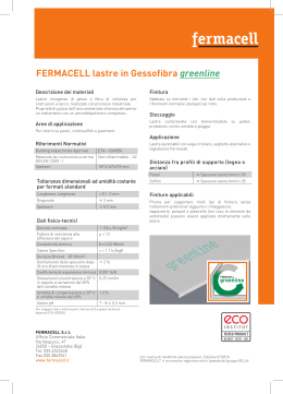 fermacell Lastre in gessofibra greenline