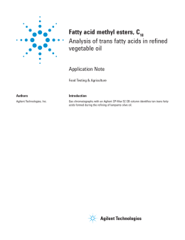 Fatty acid methyl esters, C Analysis of trans fatty acids in refined