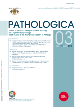 Venerdì, 29 giugno 2012 - Journal of the Italian Society of Anatomic