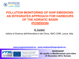 Air quality in Mediterranean port-cities – 24 November 2014, Venezia