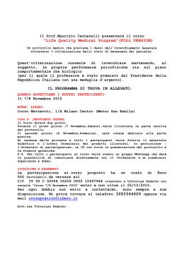 """Life Quality Medical Program""(FULL VERSION) IL PROGRAMMA SI"