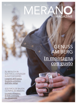 Merano Magazine Winter 2015/2016 (PDF - 8,43 MB)