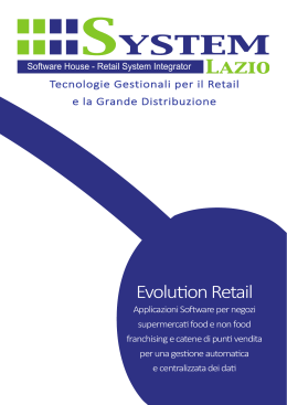 Brochure Software - System Lazio Srl