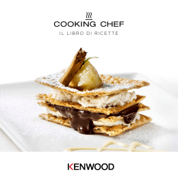 Nuovo ricettario Kenwood Cooking Chef in PDF