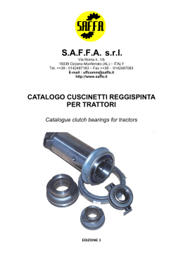 Bearings for tractors