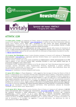 newsletter n. 3 – marzo 2013