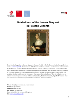 Guided tour of the Loeser Bequest in Palazzo Vecchio