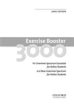 Exercise Booster 3000 - Oxford University Press