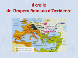La caduta dell`Impero romano d`Occidente
