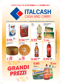 vol Italcash.indd - Italcash – Cash and Carry