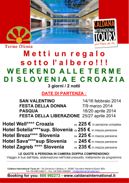 terme hotel Sava - Caldana International Tours S.r.l.