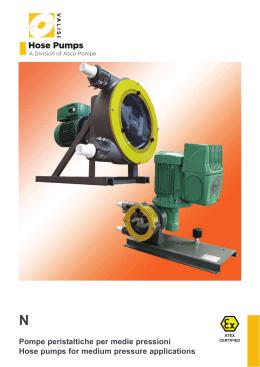 Pompe peristaltiche a bassa pressione Low pressure hose pumps