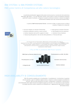 HIGH AVAILABILITY & CONSOLIDAMENTO IBM SYSTEM i e IBM