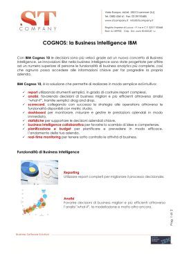 COGNOS: la Business Intelligence IBM