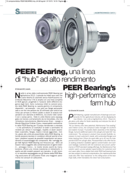 PEER Bearing`s high-performance farm hub PEER Bearing,una