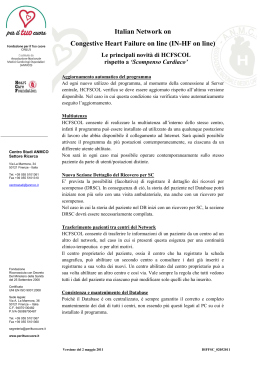 Italian Network on Congestive Heart Failure on line (IN-HF