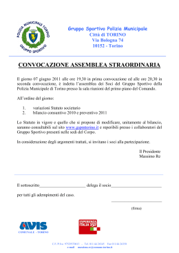 Documento per delega all`assemblea