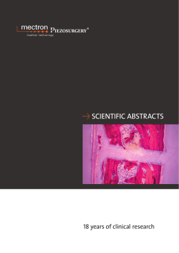 Û SCIENTIFIC ABSTRACTS