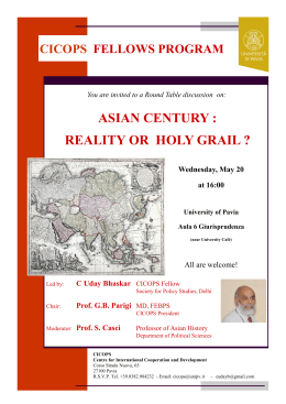 ASIAN CENTURY : REALITY OR HOLY GRAIL ?