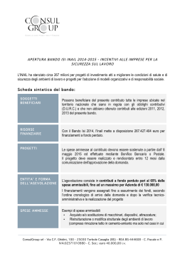 bando isi inail 2014-2015 - incentivi alle imprese