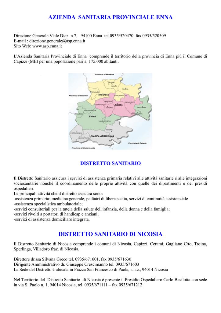 Azienda Provinciale Sanitaria Enna Nicosia Di Distretto SUzpqMV
