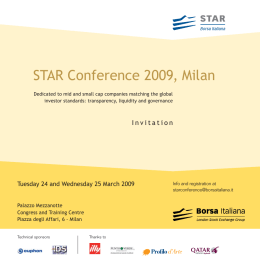 STAR Conference 2009, Milan