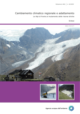 Regional climate change and adaptation — The Alps