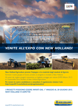 Leggi……VENITE ALL`EXPO CON NEW HOLLAND!