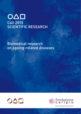 Call 2015 SCIENTIFIC RESEARCH Biomedical research on ageing