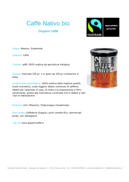 Caffè Nativo bio - Fairtrade Italia