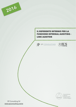 il referente interno per la funzione internal auditing - link auditor