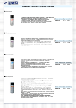 Spray per Elettronica | Spray Products