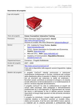 Career Counsellors` Interactive Training Ellino Germanici