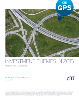 INVESTMENT THEMES IN 2015