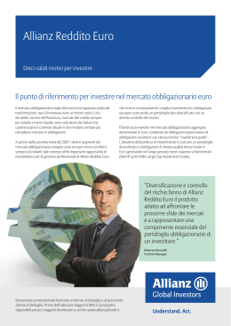 Allianz Reddito Euro - Allianz Global Investors