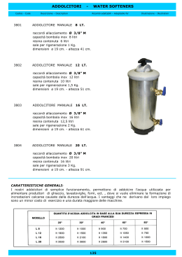 ADDOLCITORI - WATER SOFTENERS