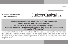 "Avviso ai Partecipanti di ""Investment Solutions by"