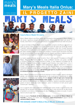 Mary`s Meals Italia Onlus: