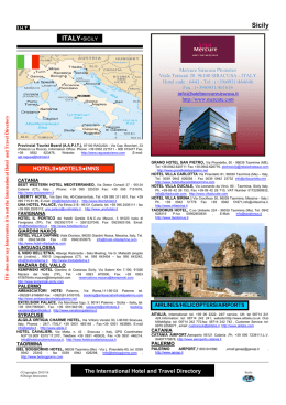 Sicily ITALY-SICILY - The International Hotel and Travel Directory