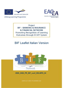BIF Leaflet Italian Version