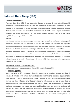 Interest Rate Swap (IRS) - MPS Capital Services Banca per le Imprese