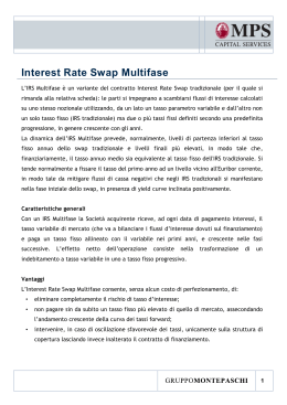 Interest Rate Swap Multifase - MPS Capital Services Banca per le