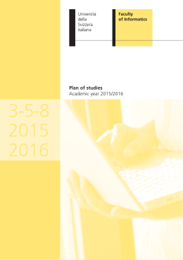 Plan of Studies 2015-16 - Faculty of Informatics