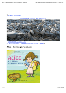 Alice e il primo giorno di asilo | eco and eco