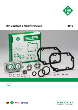 2015 INA GearBOX e Kit Differenziale