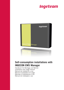 Self-consumption installations with INGECON EMS