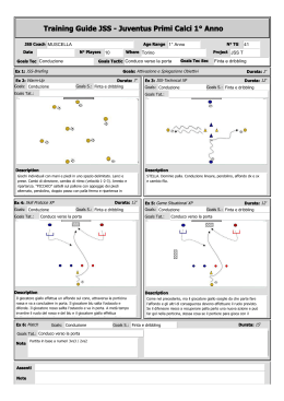 Training Guide JSS - Juventus Primi Calci 1° Anno