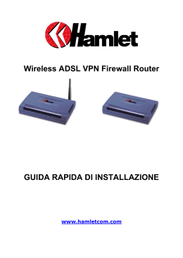 Wireless ADSL VPN Firewall Router GUIDA RAPIDA DI