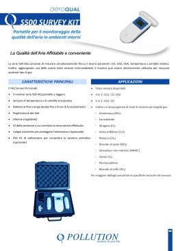 Datasheet Serie 500 IAQ Survey Kit ITA