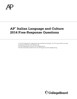 A P Italian Language and Culture 2014 Free